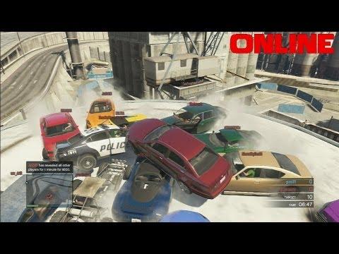 GTA 5: Online - Truck Stunt & Cluster f*ck Demoliton Derby