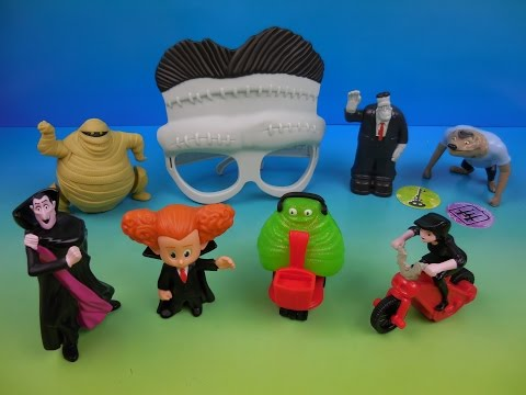 2015 HOTEL TRANSYLVANIA 2 SET OF 8 McDONALDS HAPPY MEAL KIDS MOVIE TOYS VIDEO REVIEW by FFTR