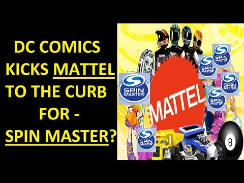 DC Comics Kicks Mattel's Toys Licence To The Curb - For Spin Master?