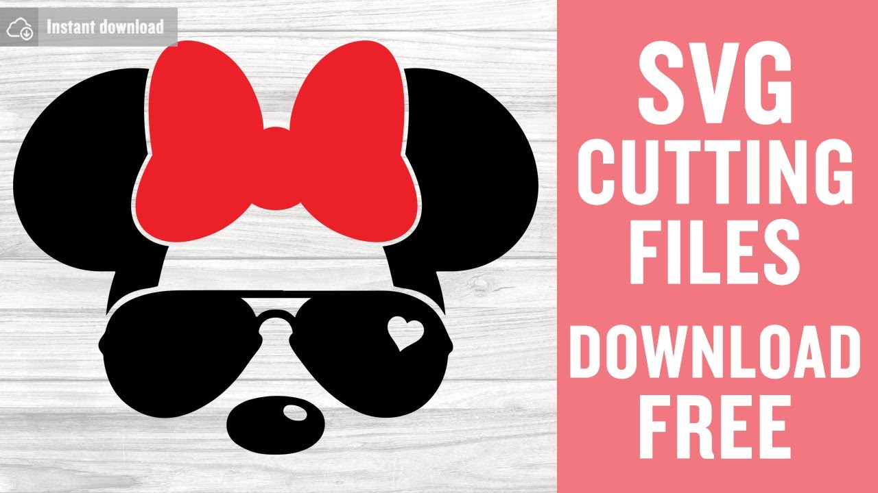 Minnie Mouse Sunglasses Svg Free Cutting Files For Cricut Silhouette Instant Download Youtube