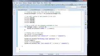 Java util ArrayList clear Method   Java util ArrayList clone Method