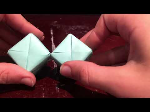 How to make a DIY paper 2x2 Rubik's cube EASY