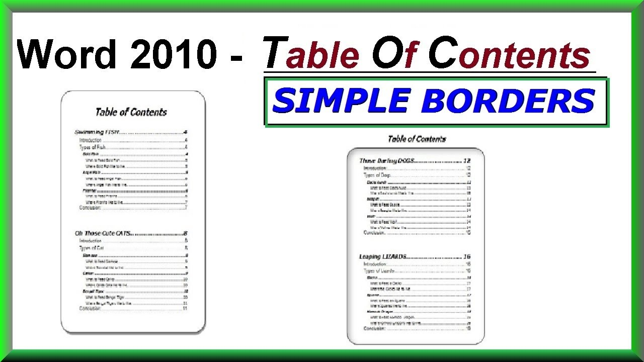 Word 2016 2013 2010 using simple borders for a table for Table th border