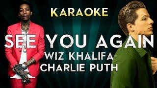 Wiz Khalifa ft. Charlie Puth - See You Again | Official Karaoke Instrumental Lyrics Cover Sing Along