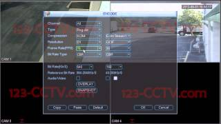 Changing Video Encoding Settings on your DVR Recorder - 123-CCTV.com Review