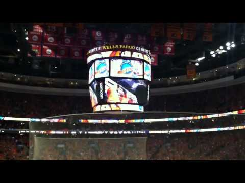 The Philadelphia Flyers score a power play goal against the Penguins in the 2012 Playoffs