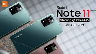 Xiaomi Redmi Note 11 Series First look   Official Specification, Price & Release Date in India 🔥🔥