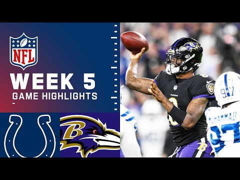Colts vs. Ravens Week 5 Highlights | NFL 2021
