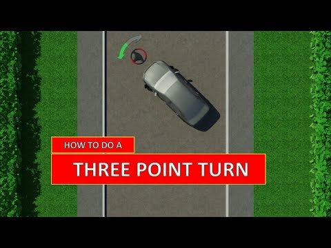 Learn How To Do A THREE-POINT TURN. The Easiest Driving Lesson (by Parking Tutorial)