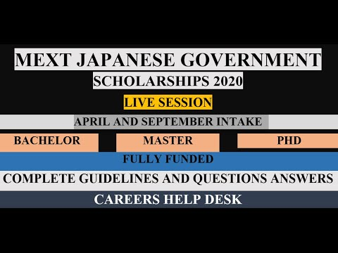 MEXT Scholarship 2020   Guidelines & Discussion   Live   Muhammad Usman