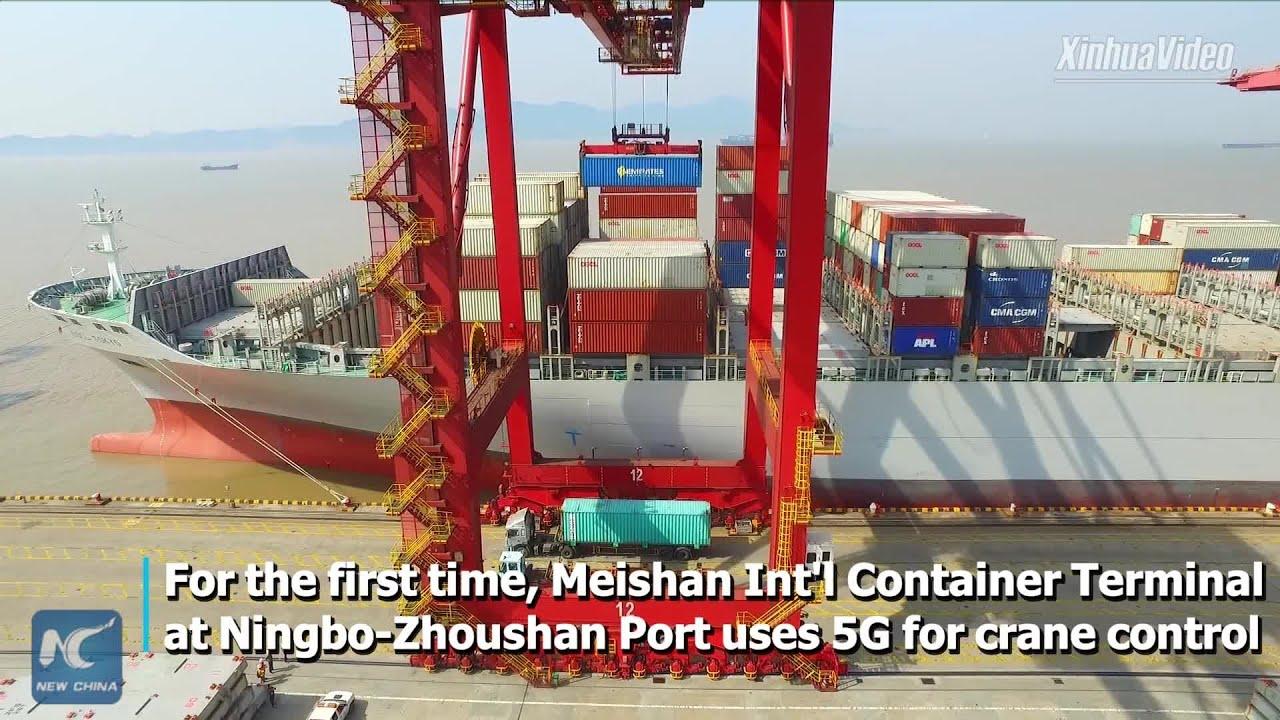 Ningbo K: China's Ningbo-Zhoushan Port Uses 5G For Crane Control