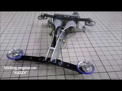 "High-efficiency Stirling Engine Car ""FUZZY"" / 多種熱源対応 高効率スターリングエンジンカー『FUZZY』 @ものつくり大学"