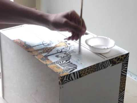 Decoupage | Decoupage Tutorial With Paper Napkins   Part 2   YouTube