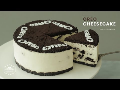 노오븐!😋 오레오 치즈케이크 만들기 : No-Bake Oreo Cheesecake Recipe : オレオレアチーズケーキ   Cooking Tree