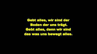 Cassandra Steen Gebt Alles (Lyrics)