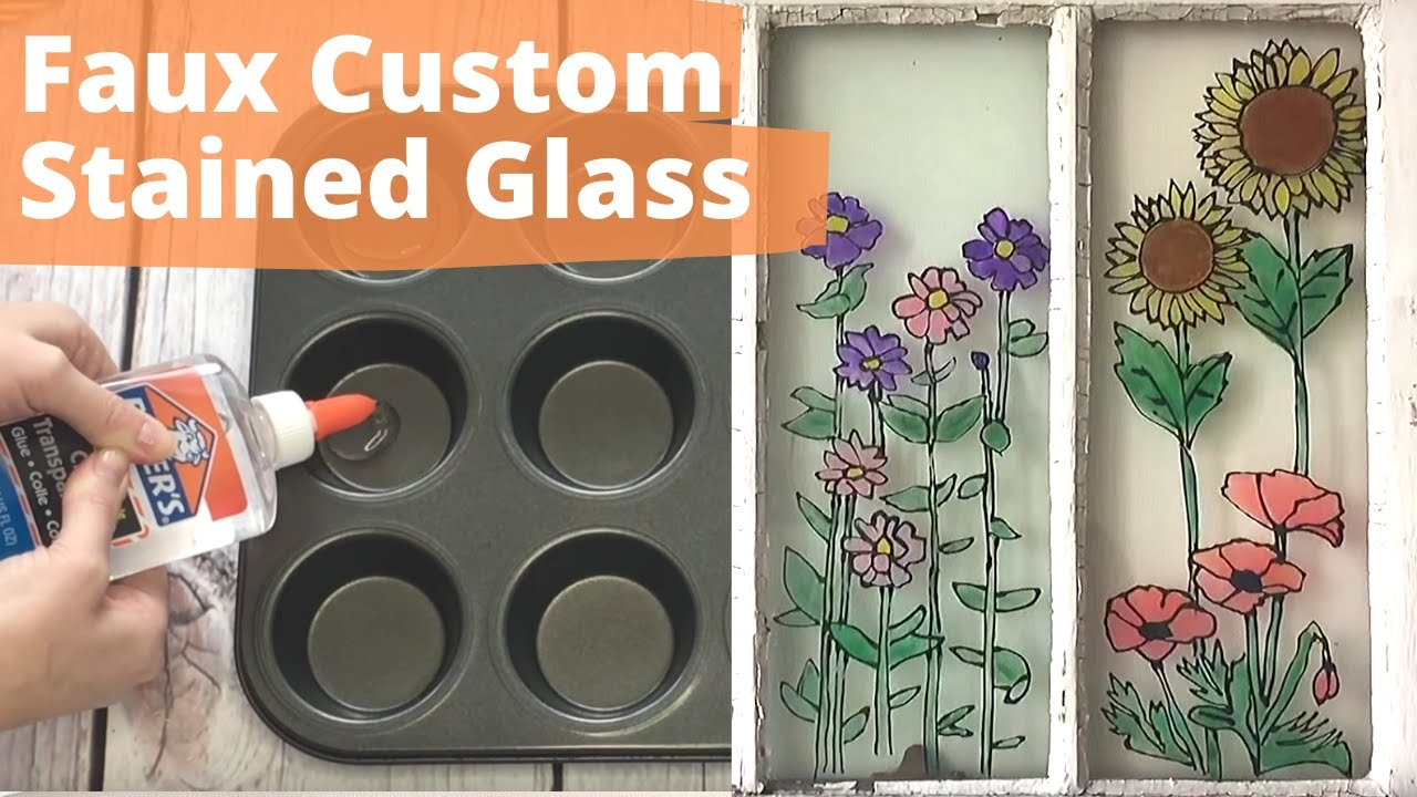 How To Fake Custom Stained Gl With Elmer S Glue Hometalk