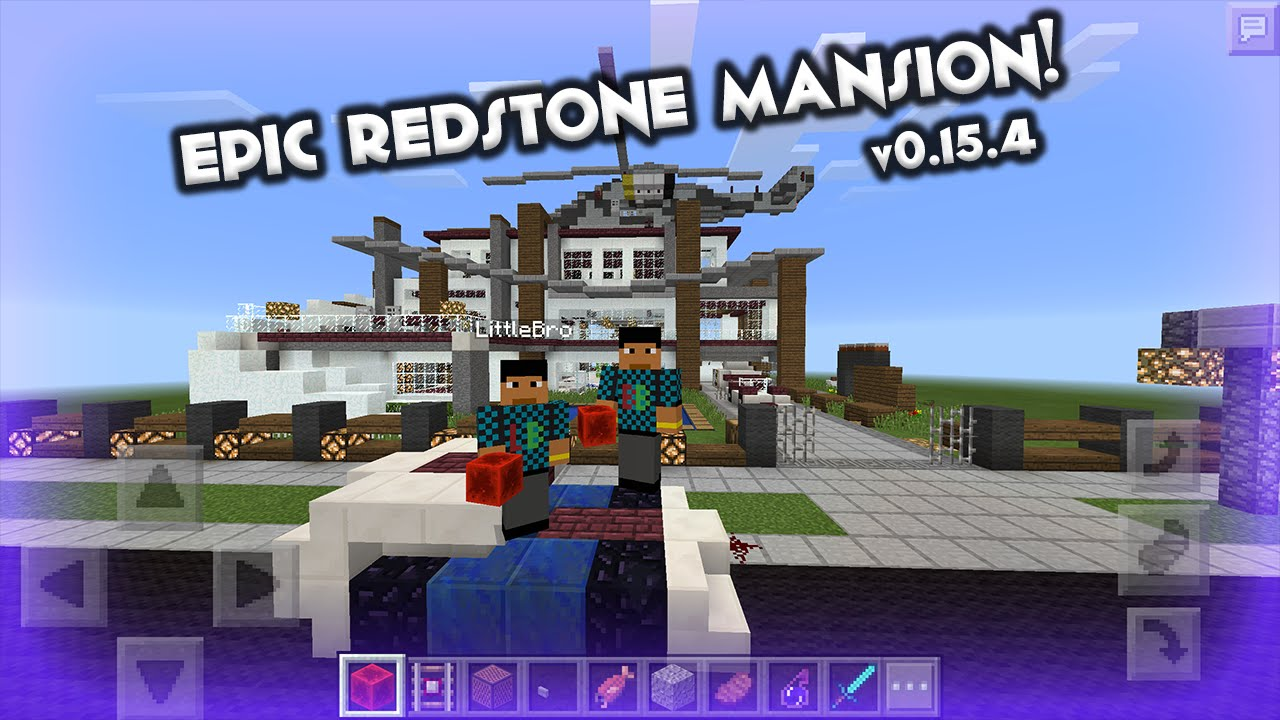 Epic Redstone Powered Mansion! + Map Download Link / MCPE v0.15.4 / on assassin's creed skin minecraft pe, cool things to build in minecraft pe, maps on minecraft kindle app, minecraftforums maps pe, maps for minecraft pc, history minecraft pe,