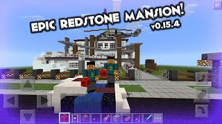 Hillside Minecraft Redstone Mansion Seed