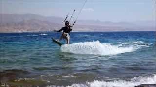 Kitesurfing Eilat 2012 May Sever Bahat.wmv
