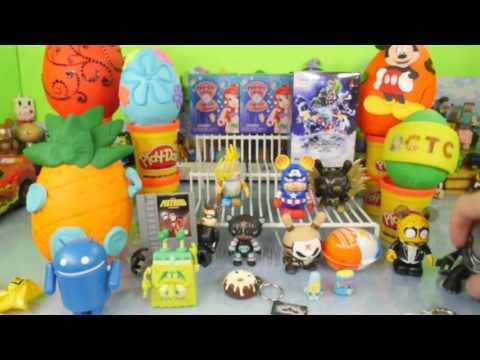 Play Doh Surprise Eggs Spongebob Squarepants Toys Kinder Joy DCTC Playdough Videos