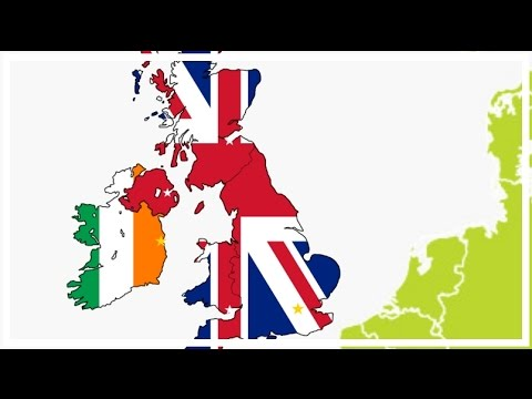 Map of Europe in Flags #4 - UK & Ireland