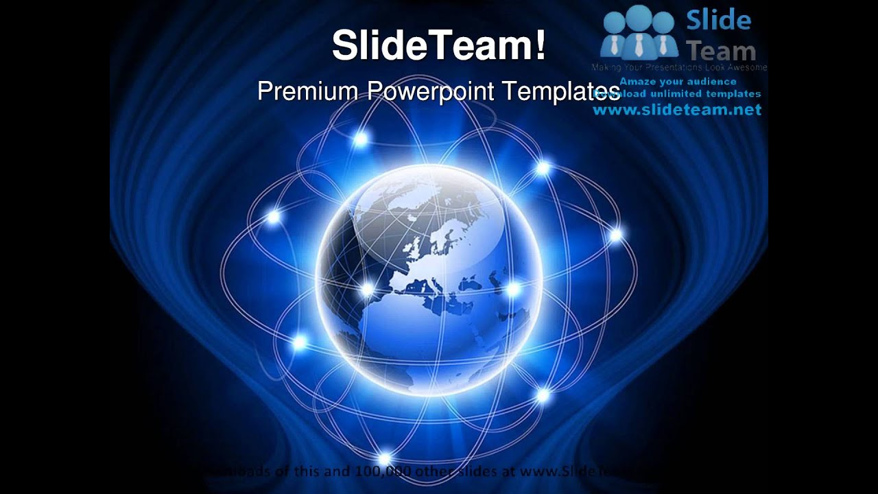 abstract social network globe powerpoint templates themes