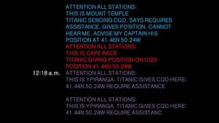 Titanic Text Messges - A Streaming Log of Distress Transmissions