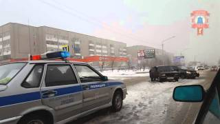 Авария у ТЦ Алмаз (06.03.16) Елабуга