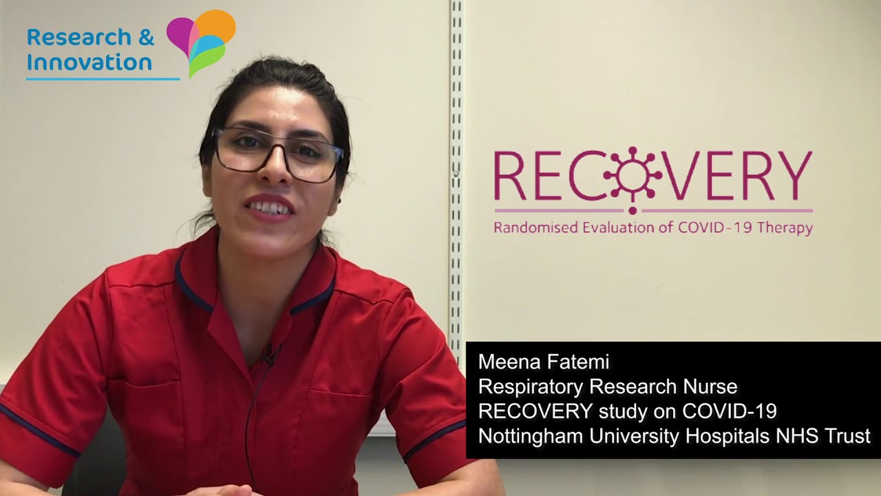 Why I'm proud to work on the #RECOVERY trial, NUH research nurse Meena Fatemi explains