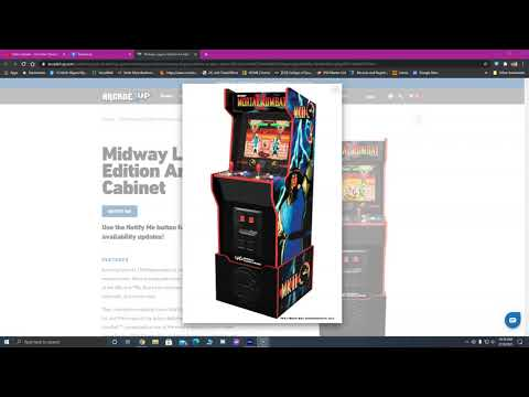 Midway Legacy Spotted on Arcade1up's Main Page. from ConStorm Entertainment