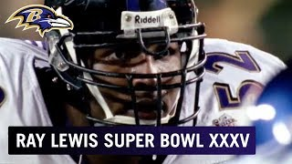 Ray Lewis' Epic Super Bowl XXXV Win vs. Giants | Baltimore Ravens