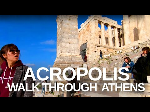 [4K] Athens, Greece (2019) Walking Tour of the Acropolis in