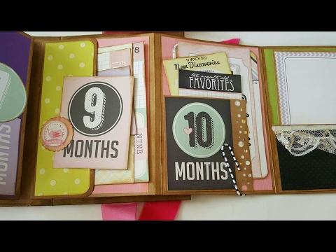 Baby Girl Mini Album Memory Book Baby Milestones Pink Junk