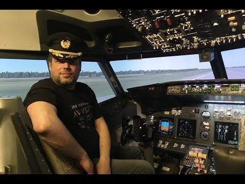 VLOG 27. Полет за штурвалом пассажирского самолета Боинг (BOEING 737). Авиатренажер Dream Aero