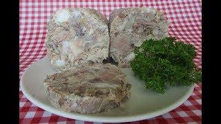 Вкусный домашний зельц из свиной рульки