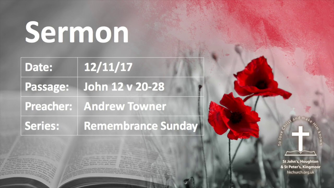Remembrance Sunday Sermons