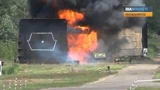 Lanzagranadas rusos hacen trizas blindaje de tanque