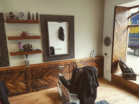 Local barbers refit using reclaimed wood