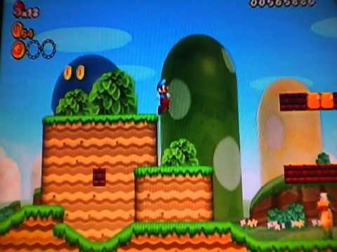 New Super Mario Bros Wii Walkthrough 1 - 3