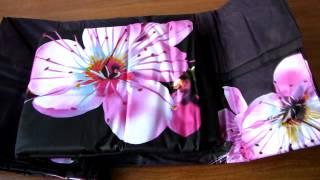 Постельное бельё из сатина 3D - Ветка розовых цветов(Ткань: сатин с фото-печатью 3D Состав: 100% хлопок Основной цвет: коричневый Плотность: 120 гм. Упаковка: пакет,..., 2014-03-24T10:32:27.000Z)