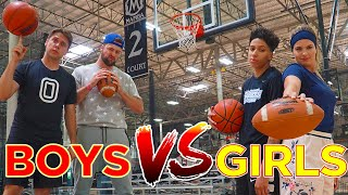 BOYS vs GIRLS Basketball Trick Shot H.O.R.S.E. Battle!