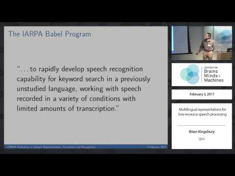 Multilingual representations for low-resource speech processing