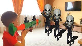 Nerf War Alien Invasion atack  Нерф вар  Инопланетное вторжение