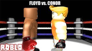 FLOYD MAYWEATHER VS CONOR MCGREGOR FIGHT IN ROBLOX!