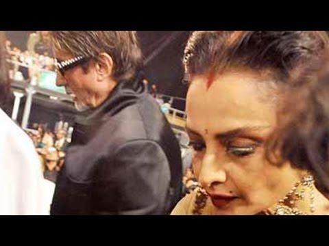 Amitabh Bachchan Ignores Rekha At An Award Show | HT Stylish Awards 2016
