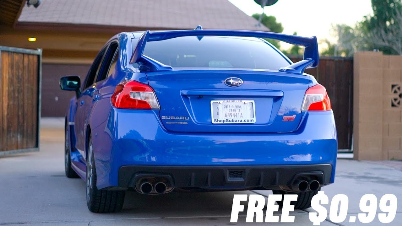 How to make your WRX or STi LOUD for $0 - YouTube
