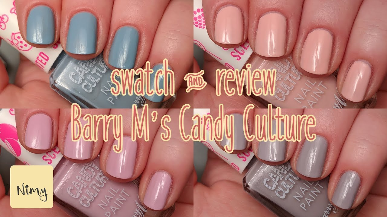 SCENTED NAIL POLISH!? // Barry M\'s Candy Culture // Swatch & Review ...