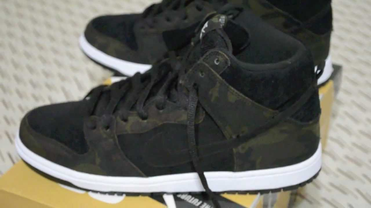 check out cd209 a807e Nike SB Dunk High Pro Iguana Black