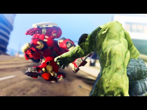 GTA 5 Mods - THE HULK VS THE HULK BUSTER! (GTA 5 Mod Showcase)