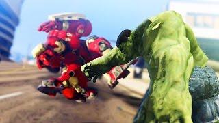 GTA 5 Mods - THE HULK VS THE HULK BUSTER! (GTA 5 Mod Showcase)